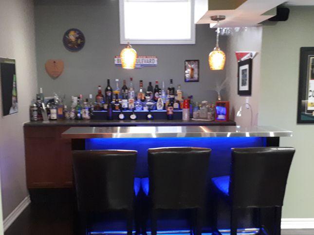 Finished Basement Wet Bar