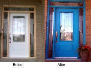 Painted door Before After Door