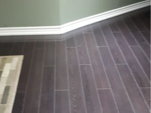Dark Laminate Floor Installed