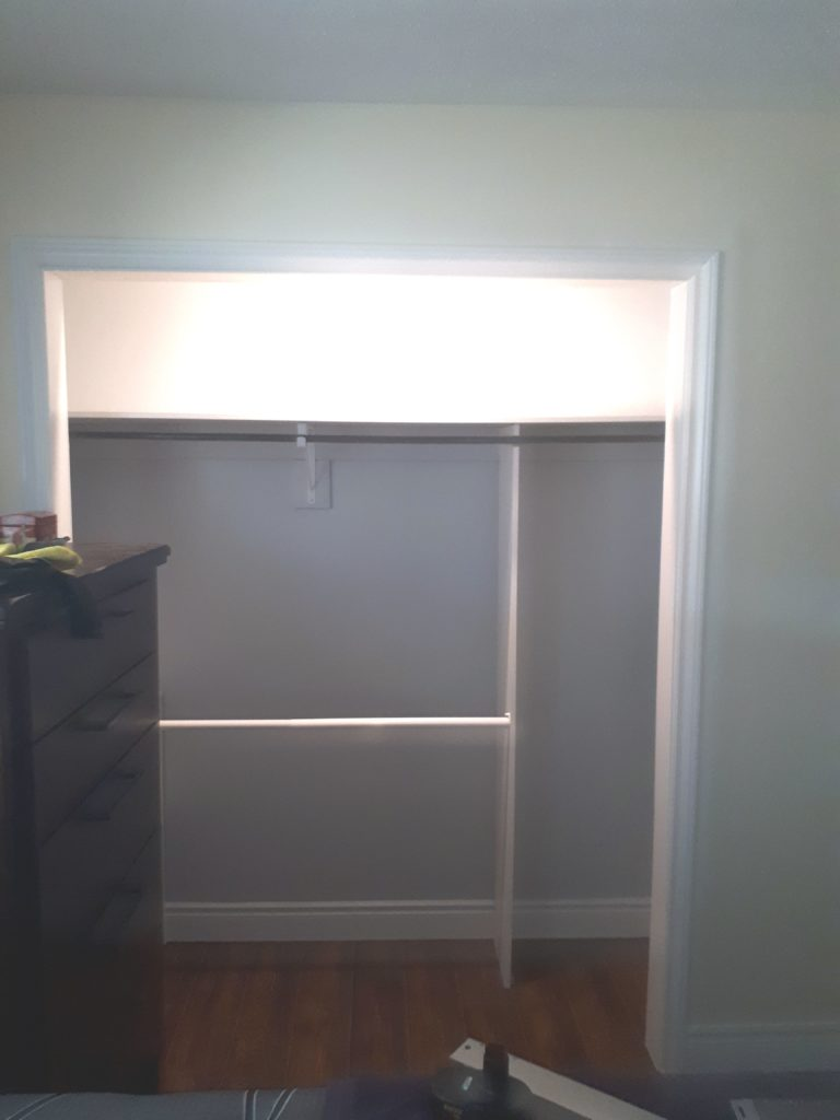 Closet inside after