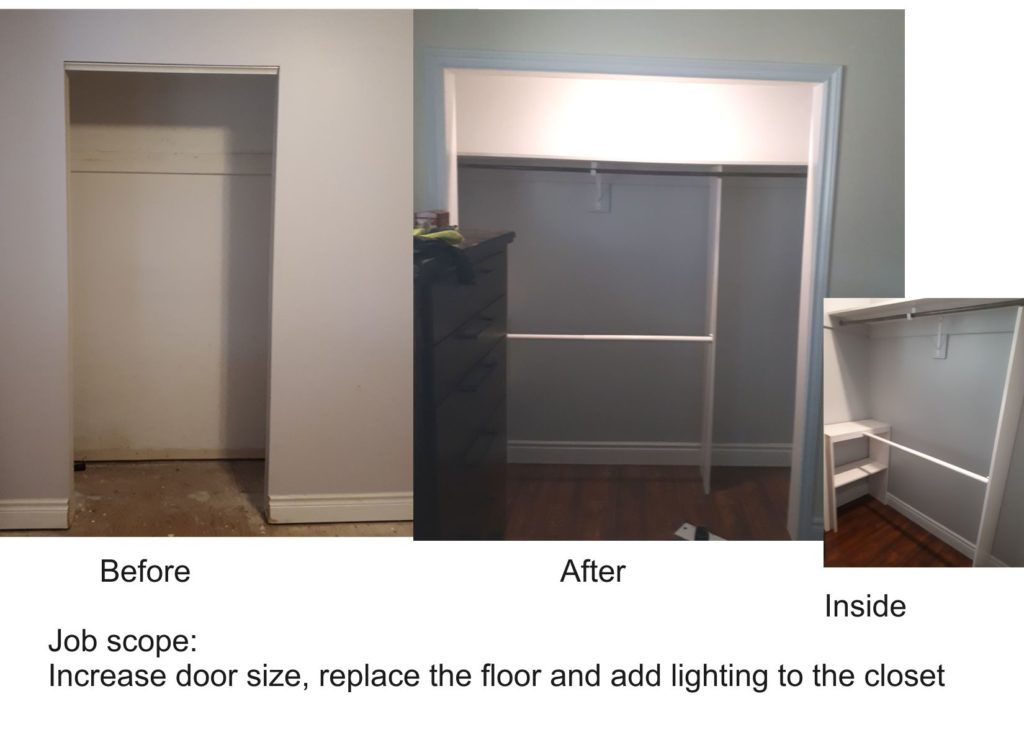 Custom closet before and after. my905handyman.ca