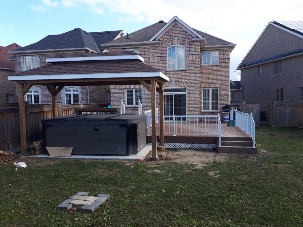 Backyard Deck and Gazebo